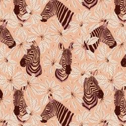 JD102-BK2 Magic of Serengeti - Happy Zebra - Butterfly Kisses Fabric