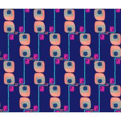 KK102-IN2 Floret Geometric - Avenue G - Indigo Fabric