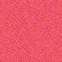 KK104-CO3 Floret Geometric - Conflorations - Coral Fabric