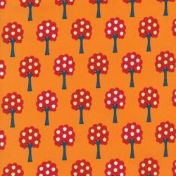 2421-001 Apple Hill Farm - Trees - Orange Fabric