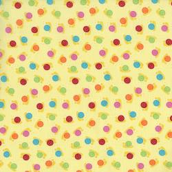2630-002 Bugsy - Snails - Butter Fabric
