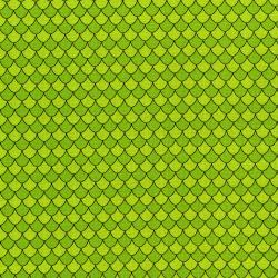 3131-004 Dino Daze - Scales - Green Fabric
