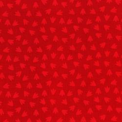 3132-003 Dino Daze - Footprints - Red Fabric