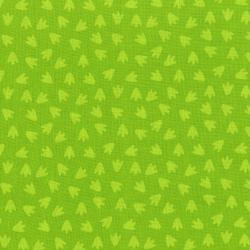 3132-005 Dino Daze - Footprints - Green Fabric