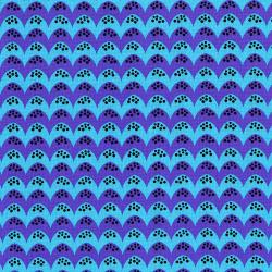 3133-002 Dino Daze - Bumps - Purple Teal Fabric