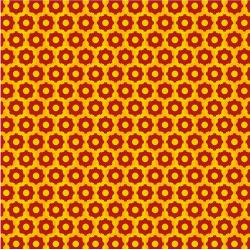3407-002 Traffic Jam - Wheels - Red & Yellow Fabric