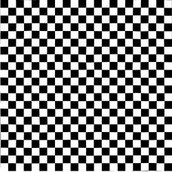 3408-001 Traffic Jam - Checks - Black & White Fabric