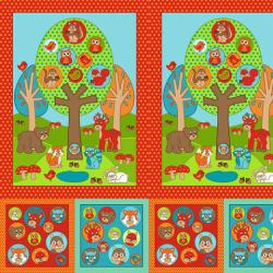 2205-001 Woodland Park - Woodland Panel - Multi Fabric