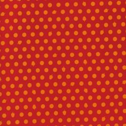 2211-001 Woodland Park - Dots & Acorns - Orange/Red Fabric