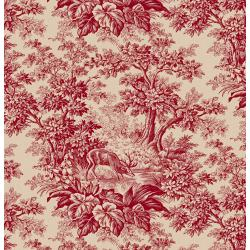 3428-001 Fall's Majesty - Woodland - Cardinal Fabric