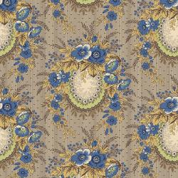 3547-002 Family Roots - Angelica - Dusty Blue Fabric