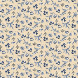3551-002 Family Roots - Harper - Vanilla Blue Fabric