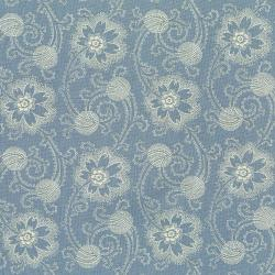 3001-002 Forget Me Not - Stream - Aged Blue Fabric