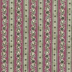3002-002 Forget Me Not - Hedgerow - Aged Plum Fabric