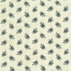 3004-002 Forget Me Not - Bouquet - Aged Cream Fabric