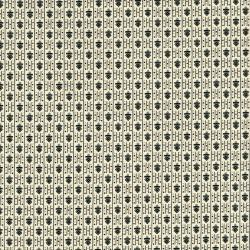 2525-001 Neutral Territory - Tin - Cream/Black Fabric