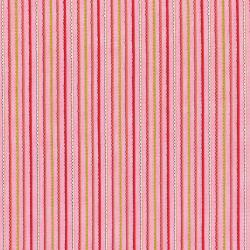 3381-002 Doodle Pop - Doodle Stripes - Coral Metallic Fabric