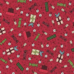 2779-001 Festive Fun - Gift Giving - Ruby Red Fabric