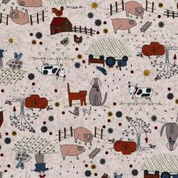 3042-001 High Meadow Farm - Farm Life - Malted Milk Fabric