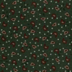 3044-001 High Meadow Farm - Hens In The Yard - Pine Fabric