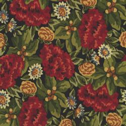 2753-001 Autumn Landscape - Harvest Garden - Black Walnut Fabric