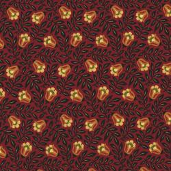 2758-002 Autumn Landscape - Blossom Vine - Red Fabric