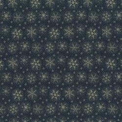 2773-002 Christmas Remembered - Flurries - Midnight Blue Fabric