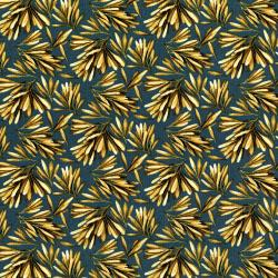 2838-002 Garden Collage - Seed Pods - Navy Fabric