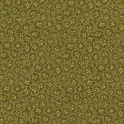 2841-003 Garden Collage - Tulip Tips - Olive Fabric