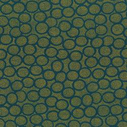2842-002 Garden Collage - Rings - Navy Fabric