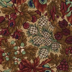 3049-002 River Song - Large Foliage - Gold Fabric