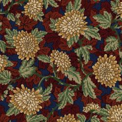 3050-001 River Song - Garden Mums - Rust Fabric