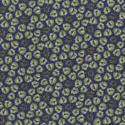3054-001 River Song - Floating Leaves - Navy Fabric