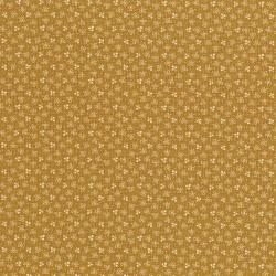 3061-001 River Song - Three Petal Sprig - Gold Fabric