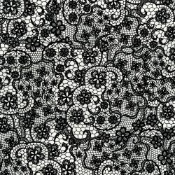 2900-002 Odds & Ends - Lace - Black On White Fabric