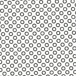 2906-002 Odds & Ends - Doodle Rings - Black On White Fabric