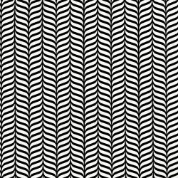 2907-001 Odds & Ends - Feathers - White On Black Fabric