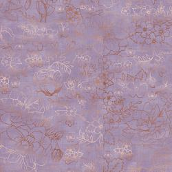 PS104-LA1M Lilac & Sage - Toile - Lavender Copper Pearl Metallic Fabric
