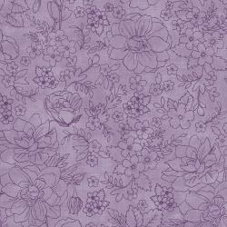 PS104-PU6 Lilac & Sage - Toile - Purple Fabric