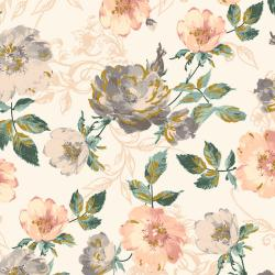 PS201-PE1M Summer Rose - Marietta - Peachy Metallic Fabric
