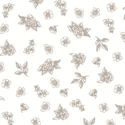 PS204-TR3 Summer Rose - Josephine - Truffle Fabric