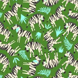 RJ1301-JU3 Adventure - Finding Zebras - Jungle Fabric
