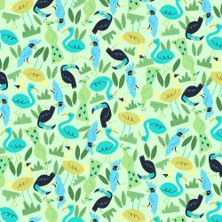 RJ1302-GR3 Adventure - Flock - Green Fabric