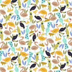 RJ1302-LA1 Adventure - Flock - Larch Fabric