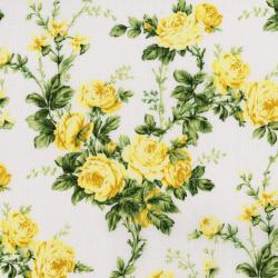 3144-003 Afternoon In The Attic - Cottage Rose - Daffodil Fabric