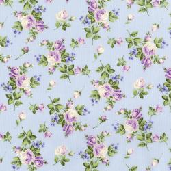 3145-001 Afternoon In The Attic - Heirloom Floral - Lavender Fabric