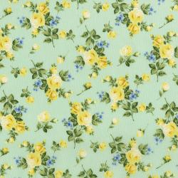 3145-003 Afternoon In The Attic - Heirloom Floral - Daffodil Fabric
