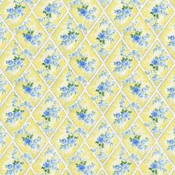 3147-003 Afternoon In The Attic - Miniature Bouquet - Daffodil Fabric