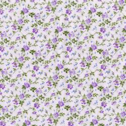 3148-001 Afternoon In The Attic - Dainty Blooms - Lavender Fabric