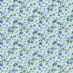 3148-003 Afternoon In The Attic - Dainty Blooms - Bluebell Fabric